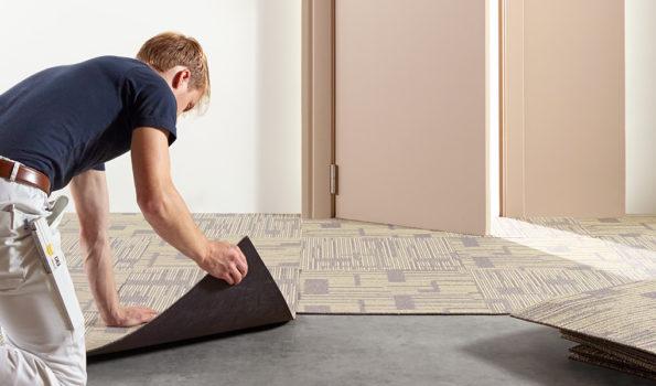Carpet in tiles